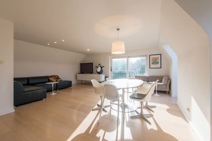 Large duplex apartment (10p) with free parking