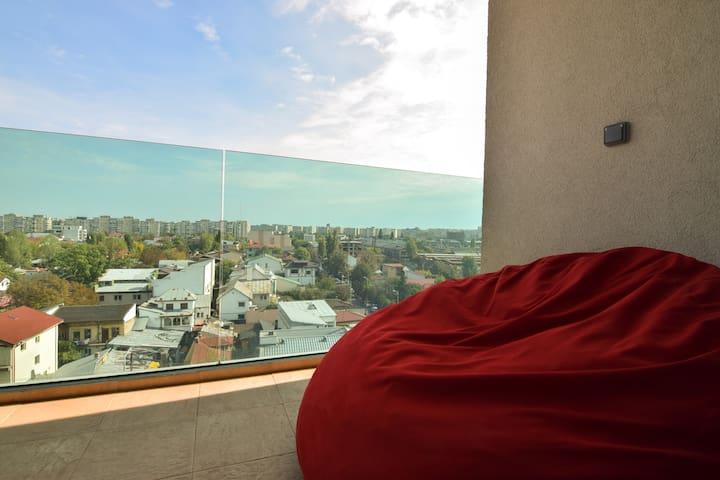Penthouse City View - București - Apartemen