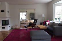 Livingroom with big plasma Tv
