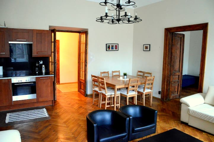 Heart of Krakow apartment-big groups 120m2 central
