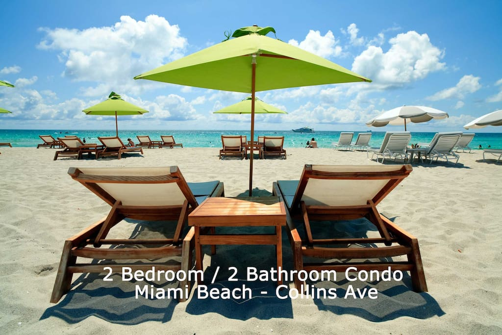 Maimi Beach Collins Ave.  - Beach chairs available