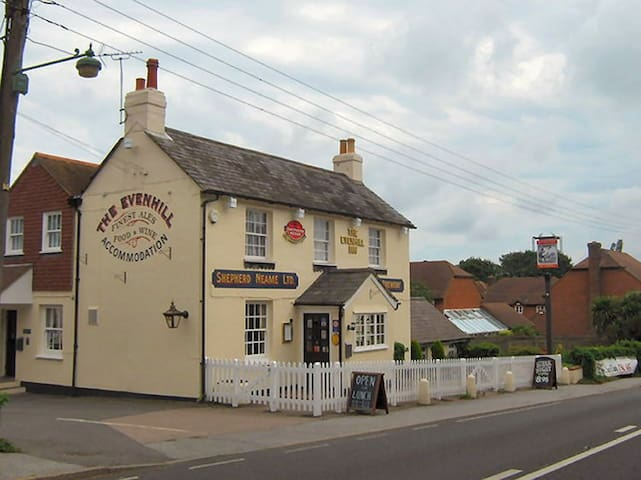 The Evenhill pub and restaurant - on the other side of the village; about 15 minutes walk from my house.