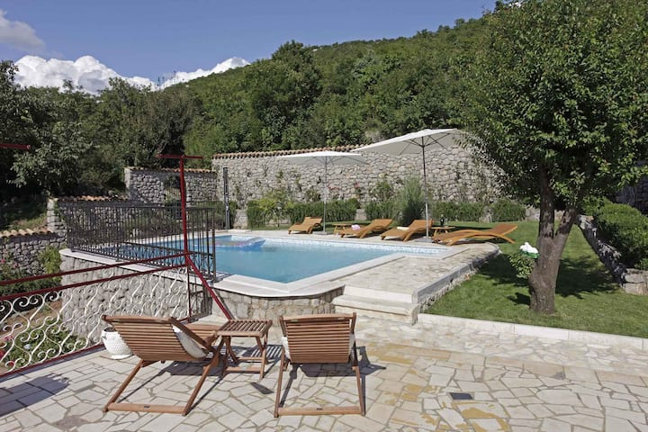 Apt for 2+2 pers with pool in Ledenice R32145