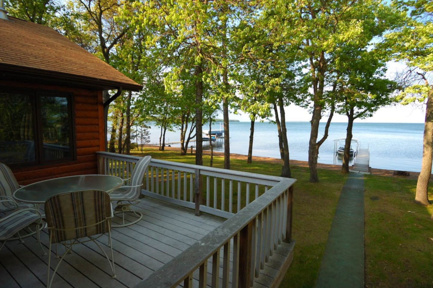 Loon Lodge on Leech Lake view from the deck
