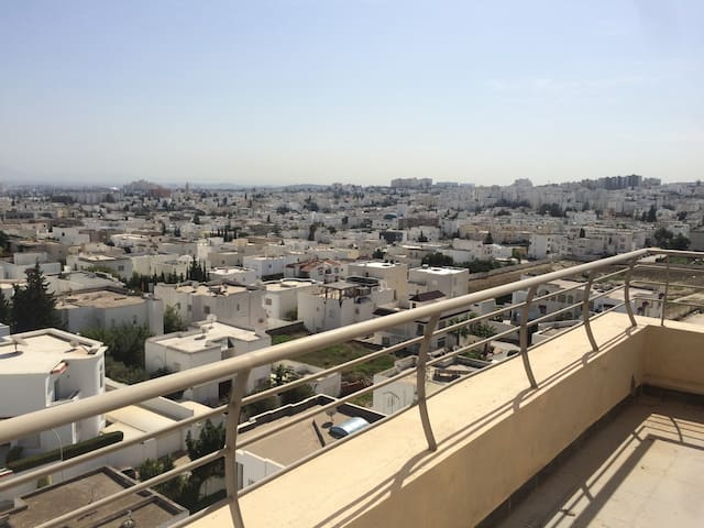 Luxury apartment in Tunis Ennasr, Magnificent view - Ariana