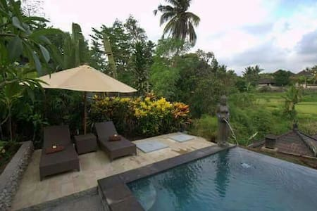Kukuh 2Bdrm, Quiet, Wifi, Pool, Rice Field View - Ubud