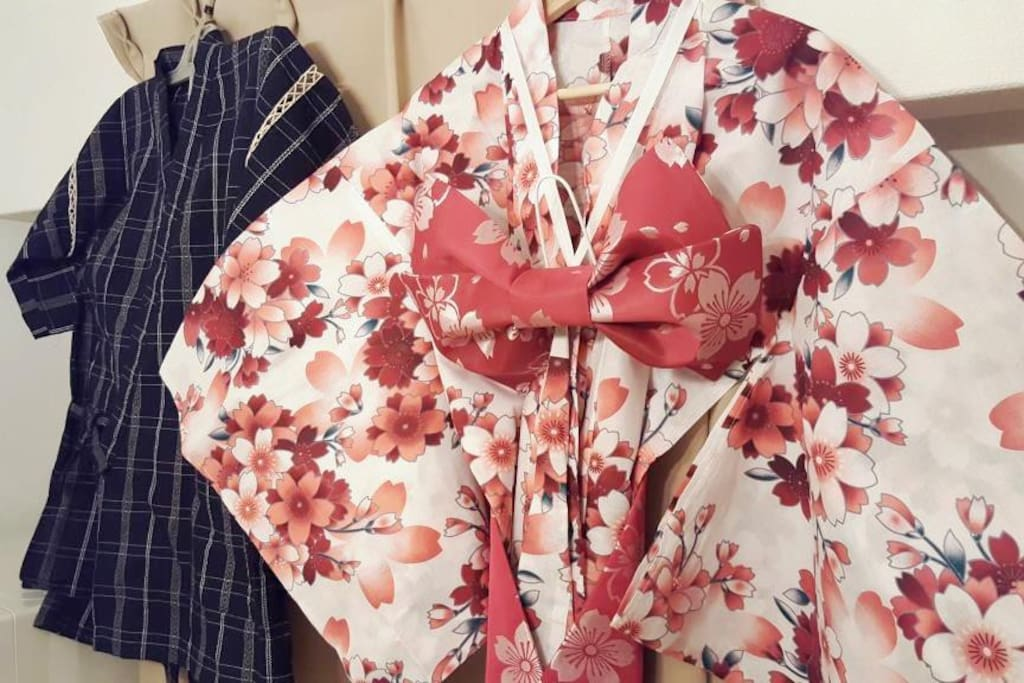 Guest can use yukata outside of room