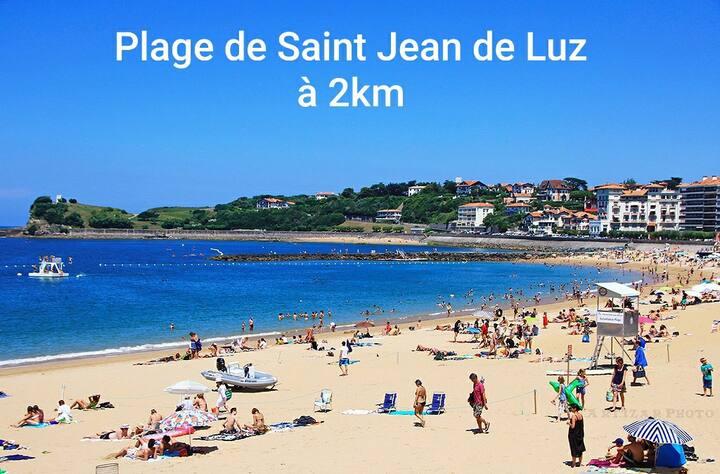 Studio proche plage St Jean de Luz