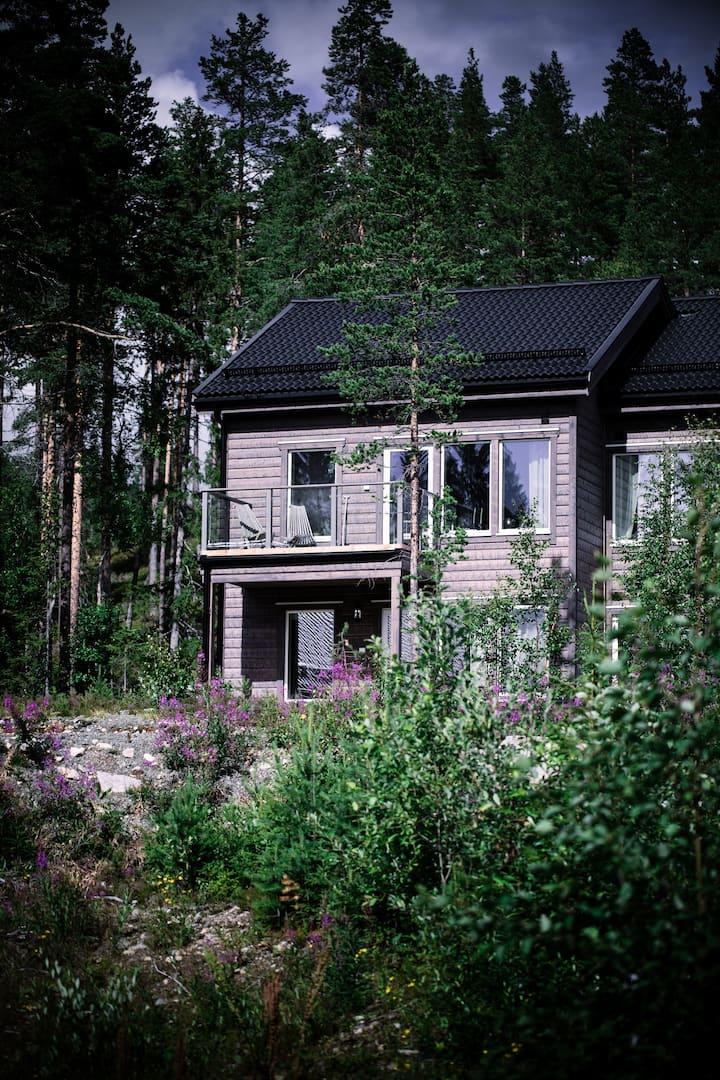 Nytt parhus i Björnrike med söderläge