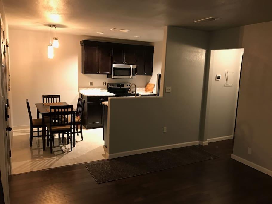Kitchen & Hallway Stainless steel appliances