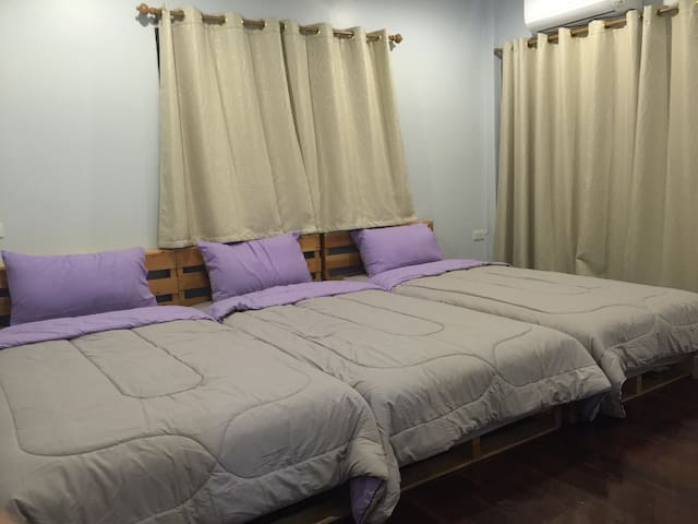 Room No.2 - Three Single beds for 3 persons
