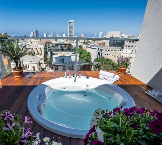 LUXURY DUPLEX WITH A JACUZZI ON ROTHSCHILD BLVD.