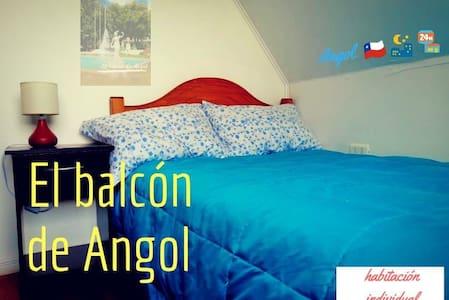 Habitación individual 02 en El balcón de Angol