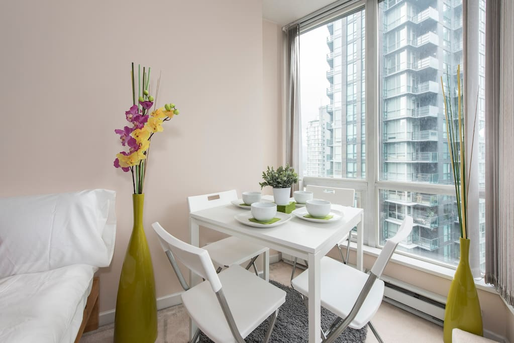Enjoy breakfast whilst taking in the stunning city views