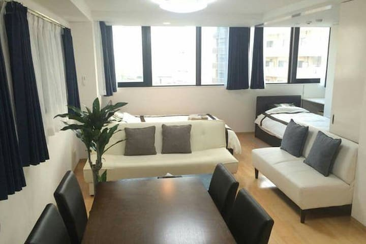 [1min from sta.] Free WiFi, Nice view cozy apt - Naniwa Ward, Osaka - Appartement