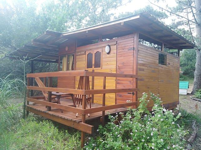 Pequeña y rustica cabaña  ideal parejas.