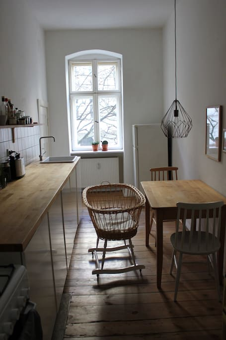 Kitchen with cooking facilities