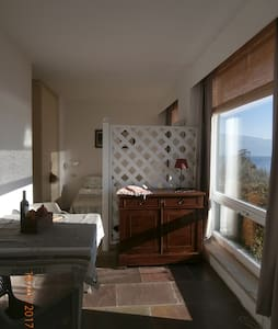 Apt Mimosa-studio with pool and terrace view/lake - Salò