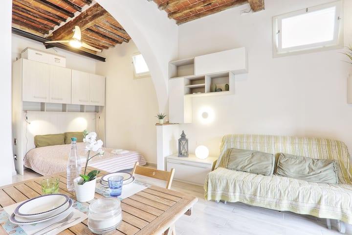 Charming apartment with sea view - Monolocale in villa d' epoca