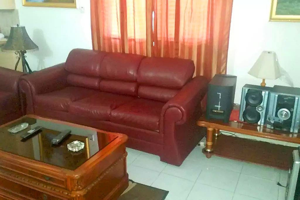 Living Room#Leather Setee