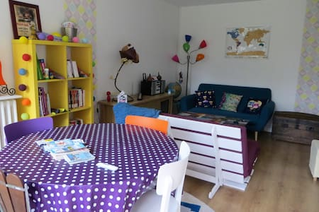 Appartement coloré proche parcs 2/4 PERS - parking - La Rochelle