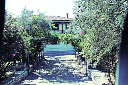 Rooms to let in beautiful town secret garden - Skiathos - Gjestehus