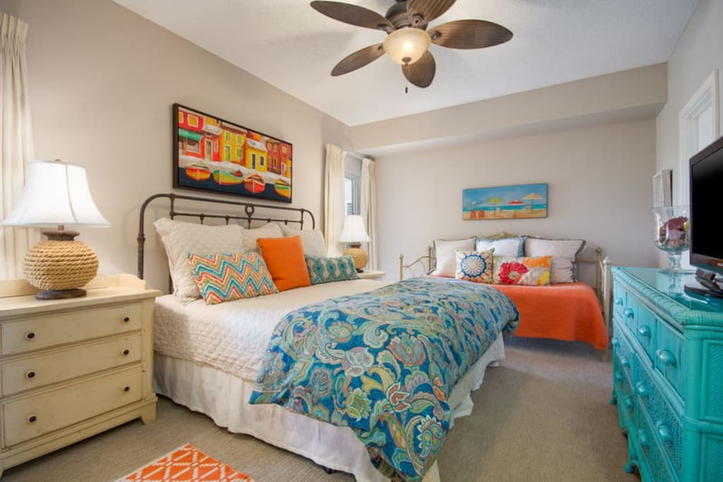 Vibrant Coastal Colors Throughout This Condo