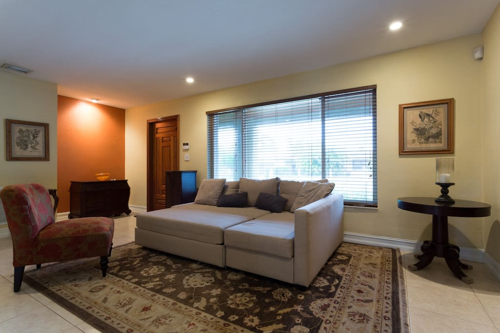 Living Area with Queen Sofa Bed
