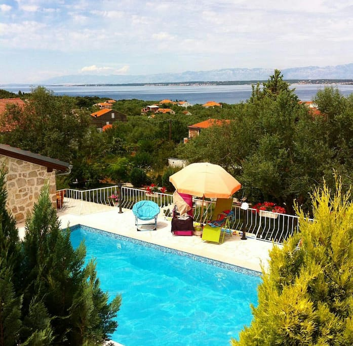 view from our swimming pool on Zadar