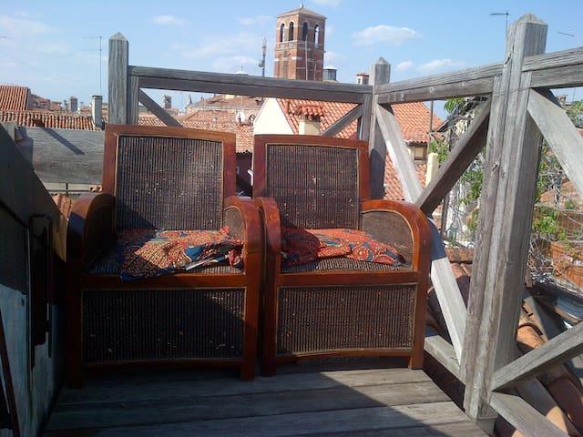 centraal overzicht met terras - Venetië - Appartement