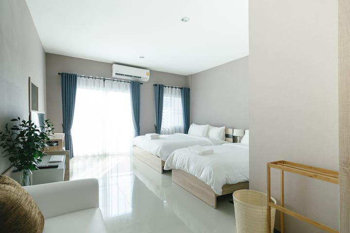 Cozy room for 3/Near Nimman/Private and quiet