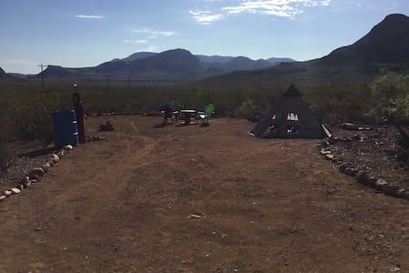 "Tin Valley Retro Rentals ""Primitive Camp"" - Terlingua"