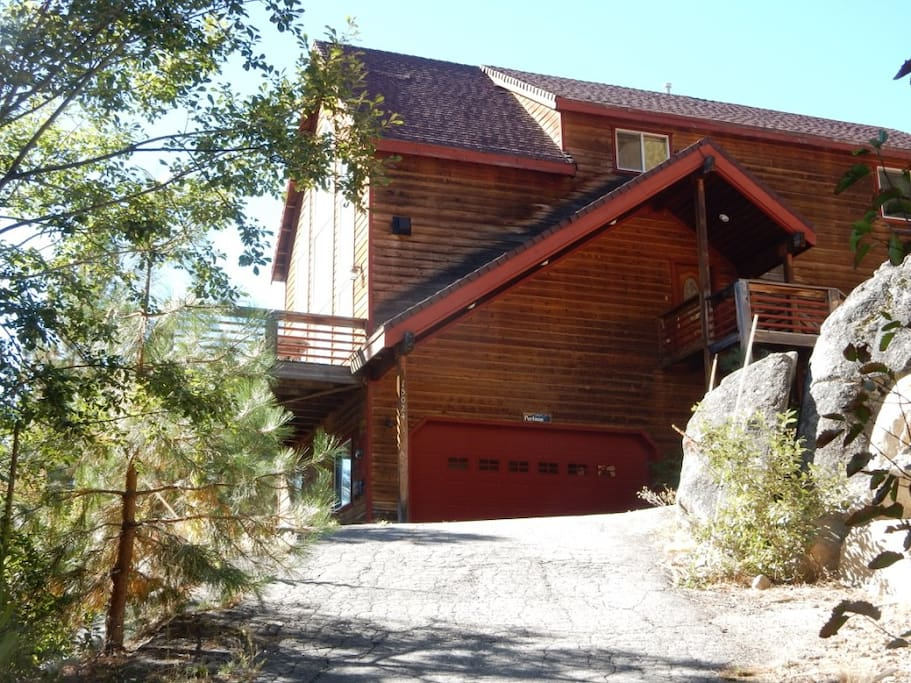 Driveway to this Beautiful Truckee House