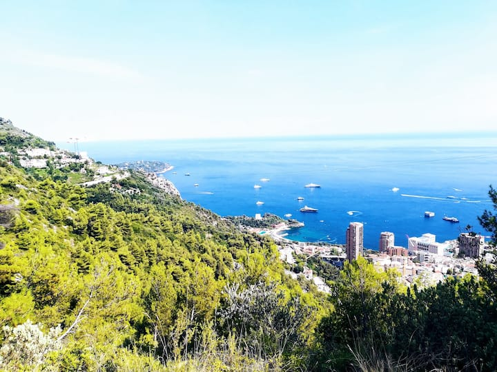 View over Monaco Riviera bike tour