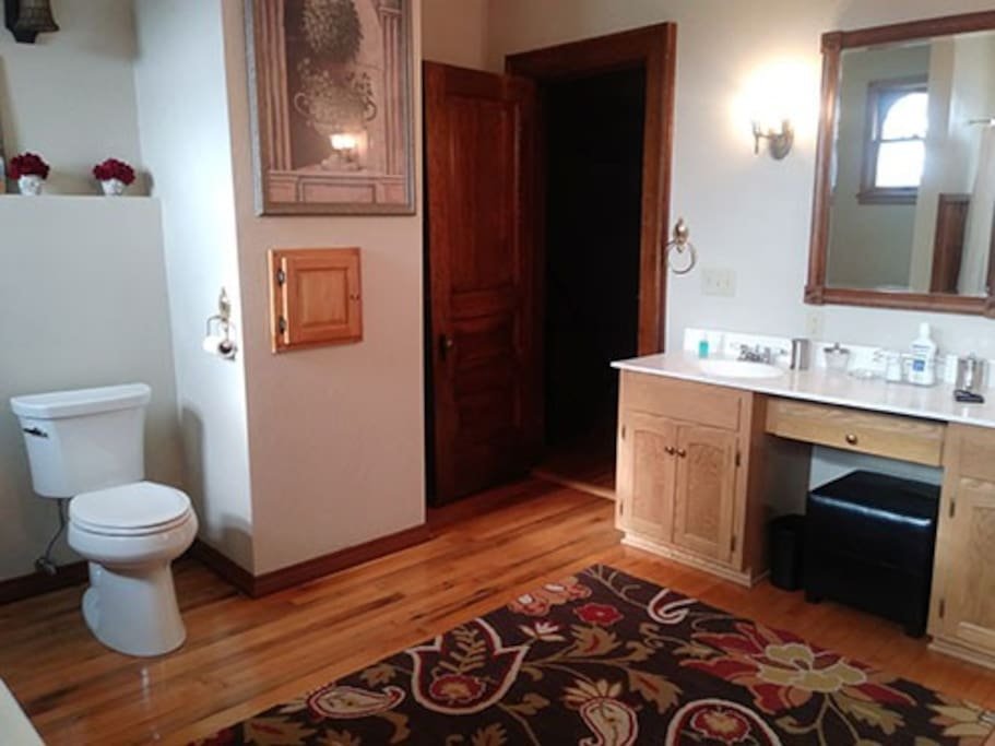 attached shared bathroom