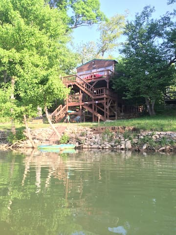 The river is waist deep in front of the cabin. Great fishing!
