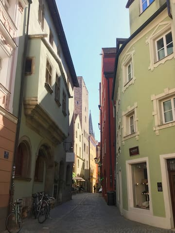 Mittendrin in der Regensburger Altstadt