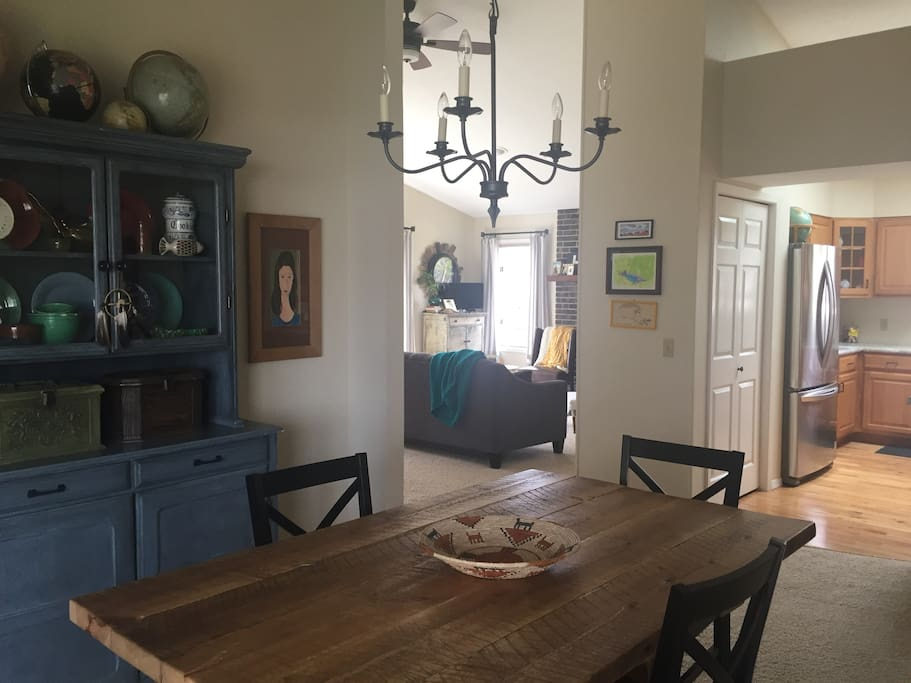 dining, living, & kitchen