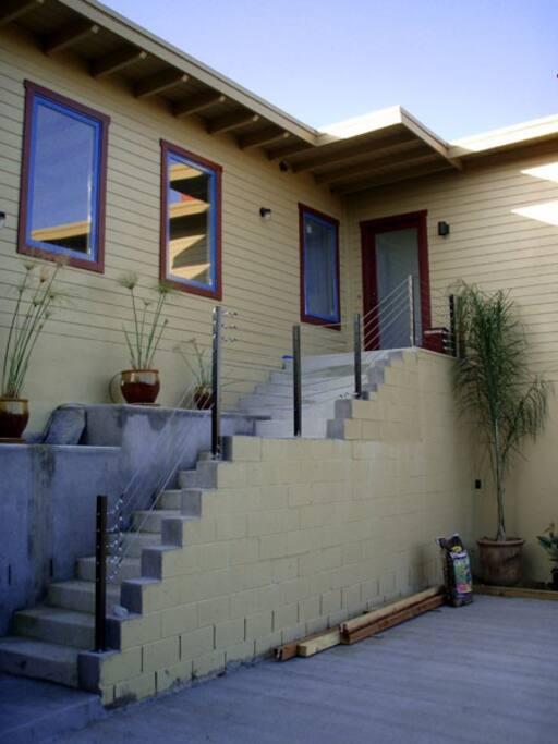 Main house entry (Studio is below)
