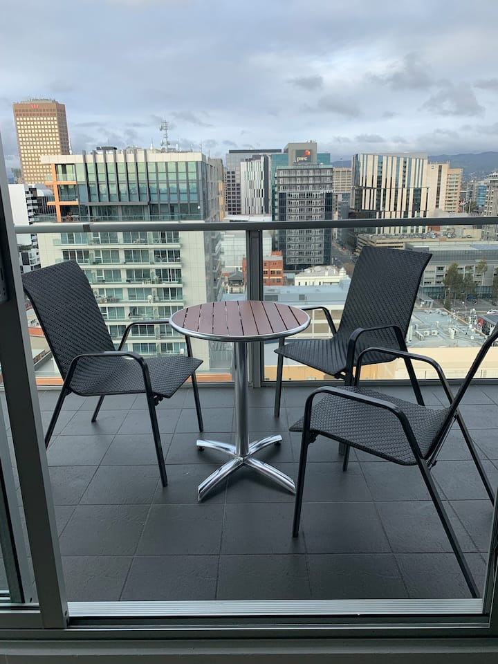 Sky-View Apartment, Adelaide CBD.