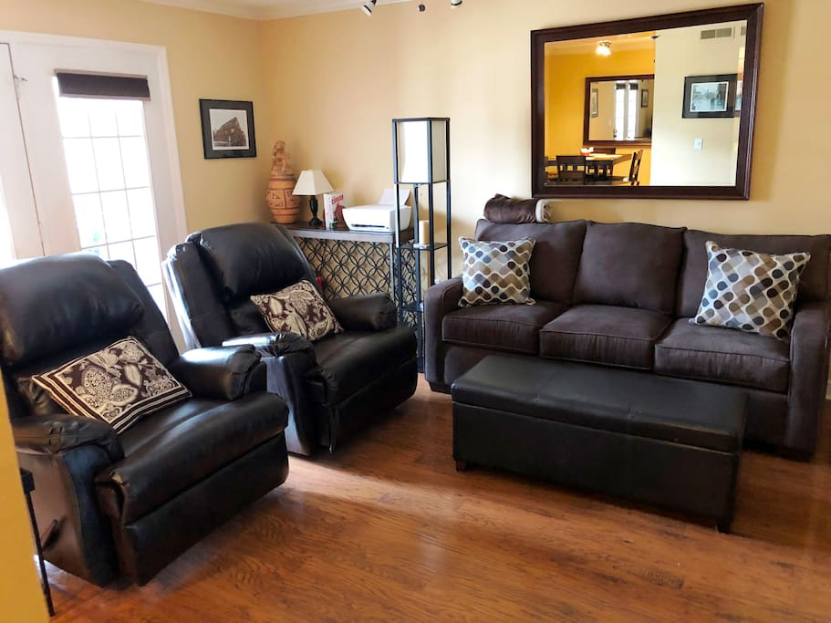 Living Room with Sleeper Sofa and 2 Recliners