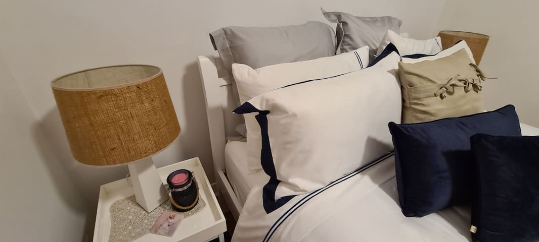 1000 thread count Quality linen, wool pillows, velvet coverlet and plush mattress topper will make you want to climb into bed after a busy day exploring the area