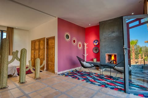 SUITE ROOM1 IN FARM WITH POOL A LALLA TAKERKOUST