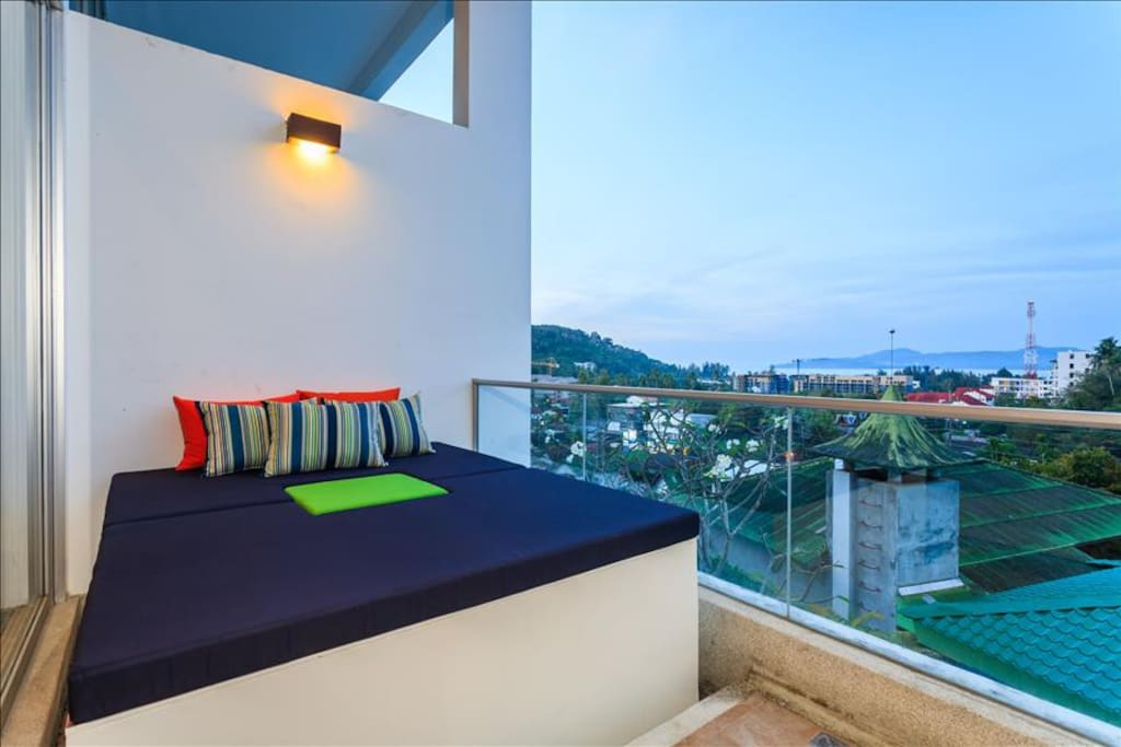Private sea view balcony