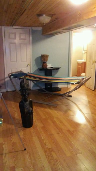 Large room with  Hammock and Futon