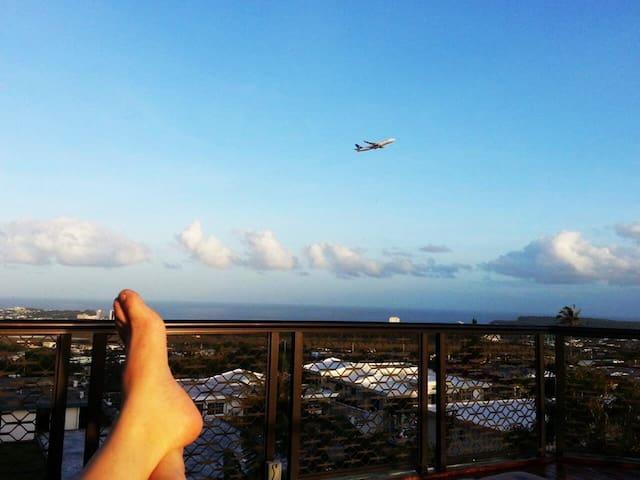 하늘, 바다를 보며 모처럼의 휴식을 스카이 라운지에서~~