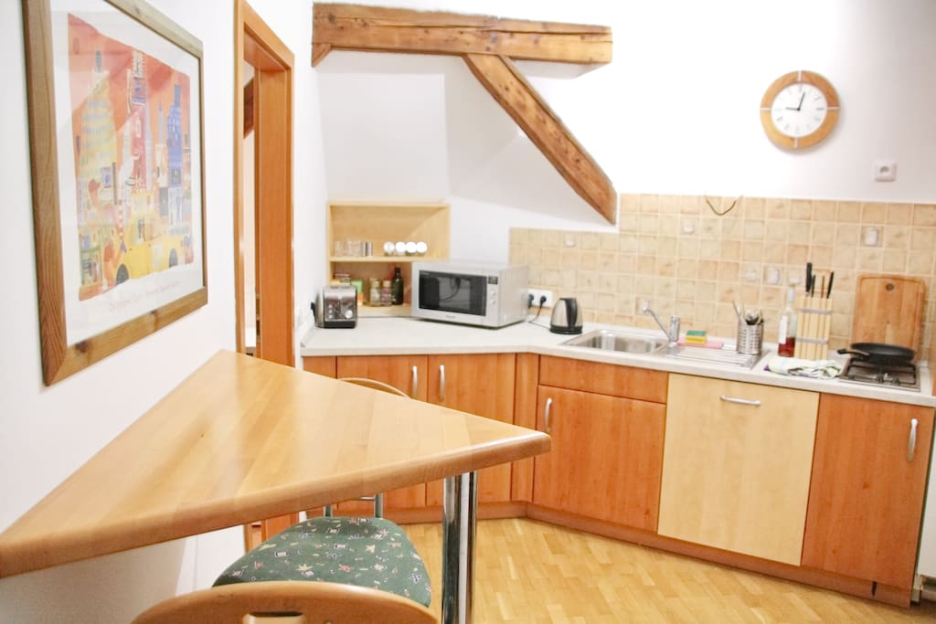 Kitchen fully available for guests