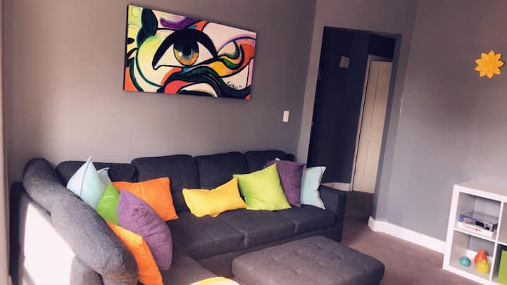 Art Inspired Home Away from Home!