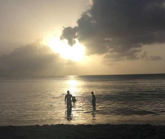 Sunset in Speightstown.