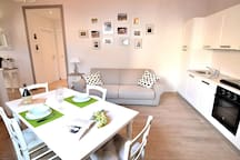 Living Area and Kitchen of your Apartment